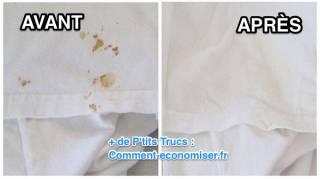 comment enlever tache de rouille sur tissu vetement