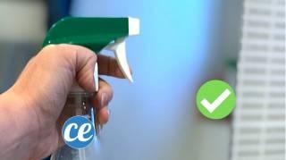 comment nettoyer un miroir très sale avec du vinaigre blanc