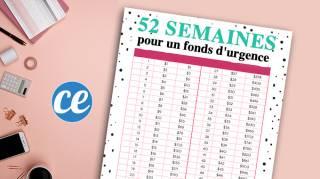 52 Semaines Pour Avoir un Fonds d'Urgence de 1 378 euros