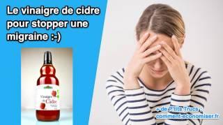 Comment Utiliser Le Vinaigre de Cidre Pour STOPPER Une Migraine