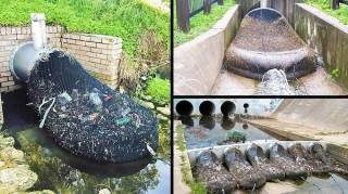 Systeme de filet  collecteur de dechets anti pollution pour les eaux