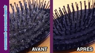 2 Astuces Faciles Pour Nettoyer Une Brosse à Cheveux TOUTE GRASSE