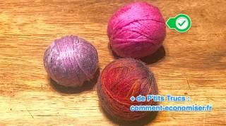 comment faire des balles de sechage en laine pour seche linge