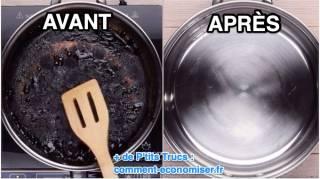L'Astuce Miracle Pour Récupérer Une Casserole Brûlée avec du sel et de l'eau