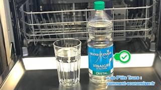 comment nettoyer un lave vaisselle avec du vinaigre blanc