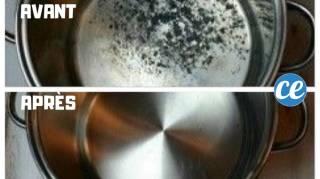 comment récupérer une casserole qui a cramé