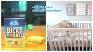 comment nettoyer lit de bebe avec du bicarbonate
