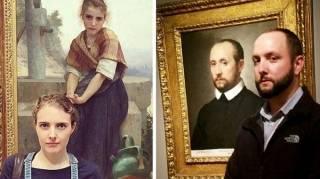 ls Vont au Musée et Se Retrouvent Nez à Nez Devant LEUR SOSIE En Peinture