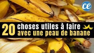 20 Choses Utiles à Faire Avec Une Peau De Banane