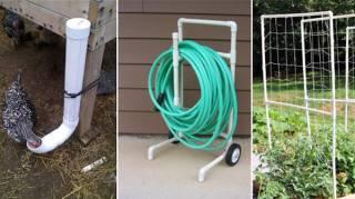 20 Façons Astucieuses d'Utiliser Des Tuyaux En PVC Dans Le Jardin