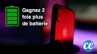 Comment économiser la batterie de l'iphone X
