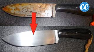 Comment nettoyer une lame de couteau rouillée, tachée ou noircie