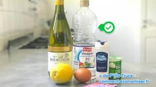 ingredients qu on peut remplacer par du vinaigre blanc
