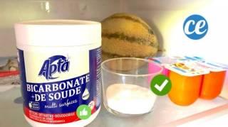 astuce pour enlever les mauvaises odeurs du frigo avec du bicarbonate