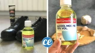 utilisation alcool 70 pour nettoyage menage et taches