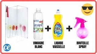 Nettoyant douche facile vinaigre blanc liquide vaisselle