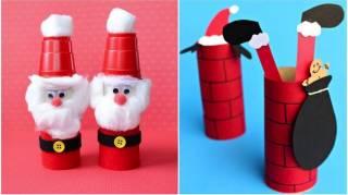 50 Super Décorations De Noël Avec des Rouleaux de Papier Toilette