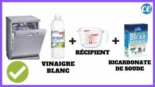 lave vaisselle vinaigre blanc bicarbonate