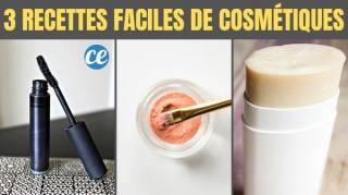 3 recettes faciles de cosmétiques maison