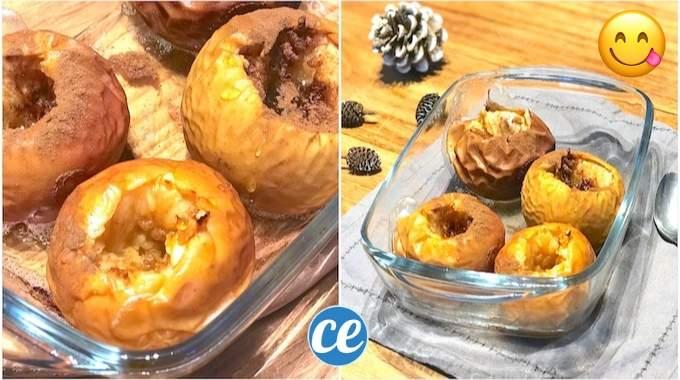 Facile & Rapide : La Recette Des Pommes Au Four Caramélisées Au Miel.