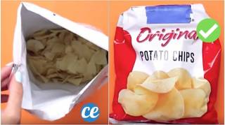 Comment Refermer Un Paquet De Chips Hermétiquement SANS Pince