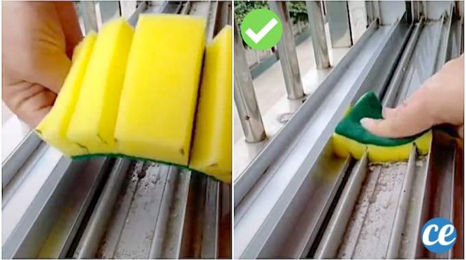 L'Astuce de Génie Pour Nettoyer les Rails de Fenêtre En 2 Min Chrono.