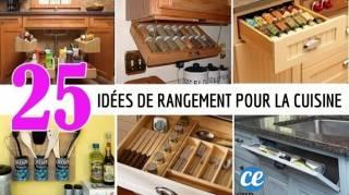 25 Astuces De Rangements Pour La Cuisine