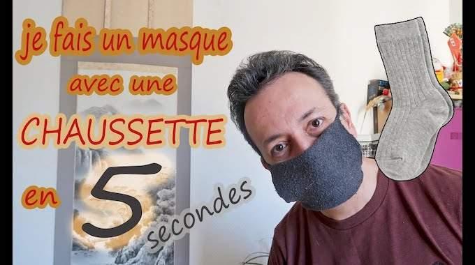 Comment Je Fabrique Un Masque Avec Une Chaussette En 5 Secondes.