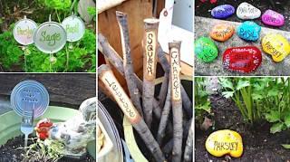 19 idées mignonnes et gratuites pour étiqueter les plantes de jardin