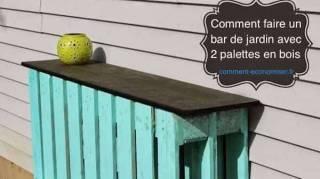 Comment Faire un Bar de Jardin Avec Seulement 2 Palettes en Bois