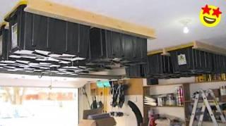 Garage : Comment Faire un Rangement Au Plafond Pour Gagner de la Place