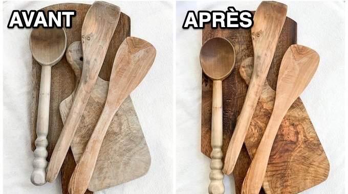 Comment Nettoyer et Désinfecter les Cuillères, Spatules & Planches en Bois.
