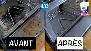 Four Très Sale  Utilisez Cette Pâte Magique au Bicarbonate Pour le Nettoyer