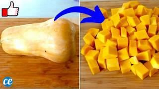L'Astuce Pour Couper une Courge Butternut En Cubes FACILEMENT