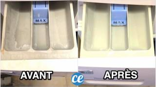 Lave Linge : Comment Nettoyer un Bac à Lessive Encrassé SANS Frotter