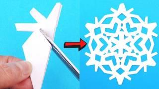 Comment Faire des Flocons de Neige en Papier  Le Tuto Facile Pour Noël
