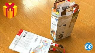 Comment Faire une Pochette Cadeau en Papier Journal (Facile & Rapide)