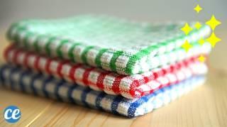 Torchons Très Sales  Comment les Nettoyer et Désinfecter Facilement