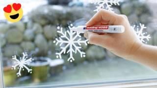 Une Super Idée Pour Décorer Ses Fenêtres Pour Noël en 2 Min Chrono