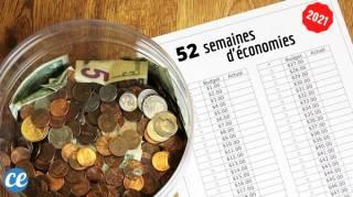 Relevez le Défi Pour 2021 : 52 Semaines d'Économies