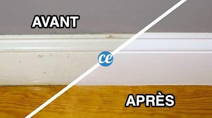 L'Astuce Pour Nettoyer les Plinthes Sales Facilement Avec du Vinaigre Blanc.