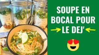 Soupe en Bocal Pour le Déjeuner : Ajoutez Juste de l'Eau Chaude et C'est Prêt