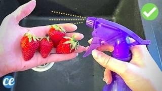Le Spray Fait Maison Qui Enlève les Pesticides des Fruits & Légumes Non Bio