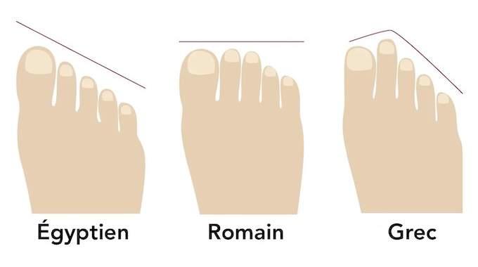 Avez-Vous le Pied Grec, Égyptien ou Romain ?