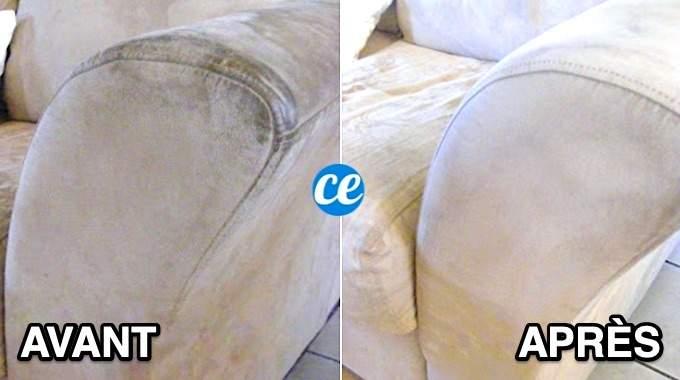 Comment Nettoyer un Canapé en Tissu Non Déhoussable SANS Effort.