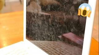 Écran d'Ordinateur Sale  Le Nettoyant Anti-Traces Fait Maison au Vinaigre Blanc