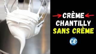 Faire de la Chantilly SANS Crème : La Recette Facile et Sans Lactose