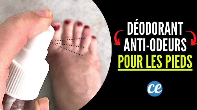 Le Spray Déodorant Anti-Odeurs Pour les Pieds Qui Puent.