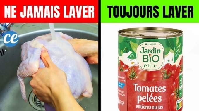 10 Aliments Qu'il Ne Faut Jamais Laver Avant de les Manger (et Ceux Qu'il Faut Laver).