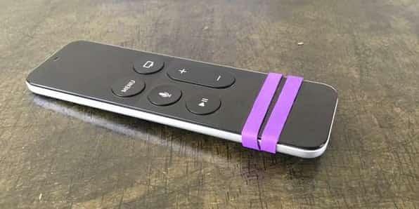 éviter à la télécommande de glisser élastique